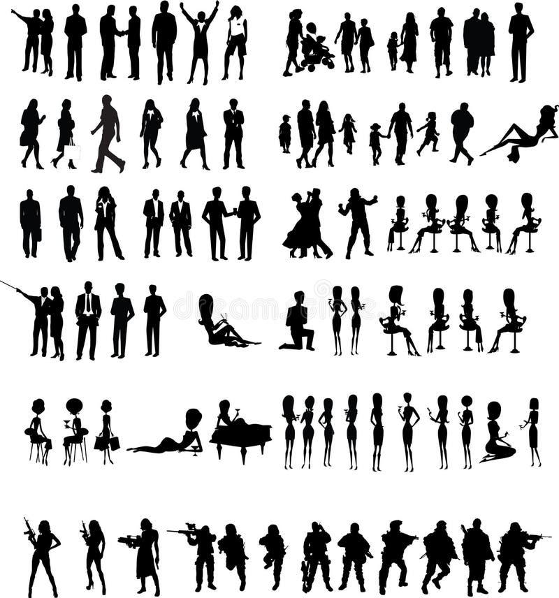 Vector de la gente de las siluetas libre illustration