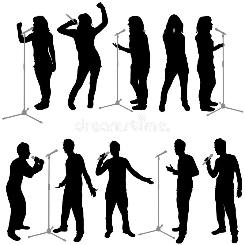 Vector de la gente del canto ilustración del vector