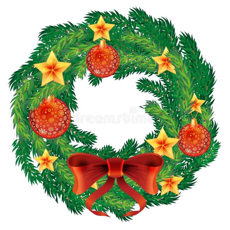 Vector de la guirnalda de la Navidad ilustración del vector