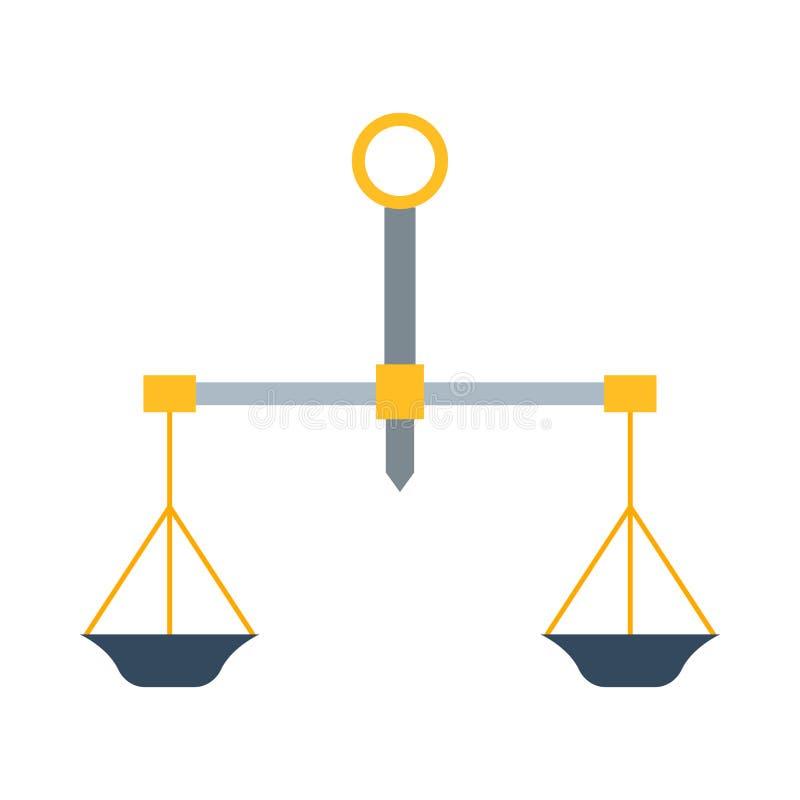 Vector de la herramienta de la instrumentación de la medida del peso stock de ilustración