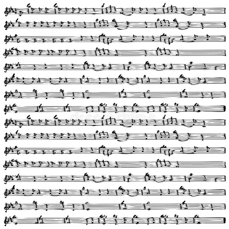 Vector de la hoja de la nota de la música   ilustración del vector