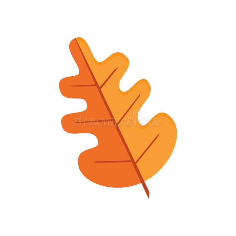 Vector de la hoja del roble del otoño libre illustration