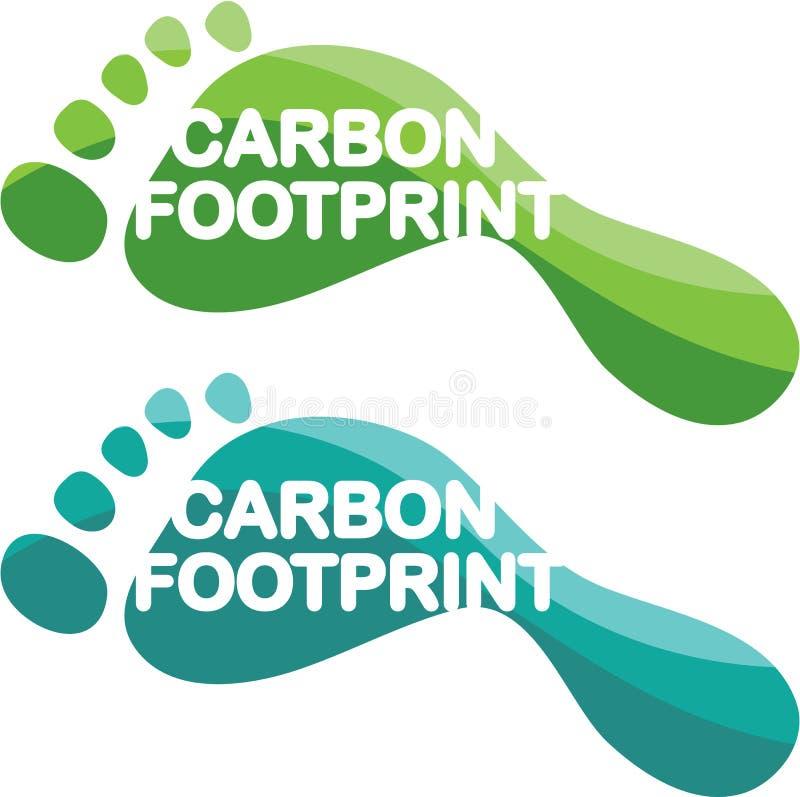 Vector de la huella del carbono ilustración del vector
