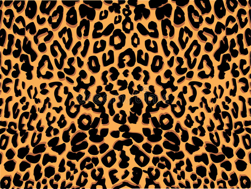 Vector de la impresión del leopardo stock de ilustración