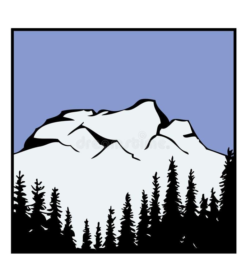Vector de la insignia de la montaña stock de ilustración