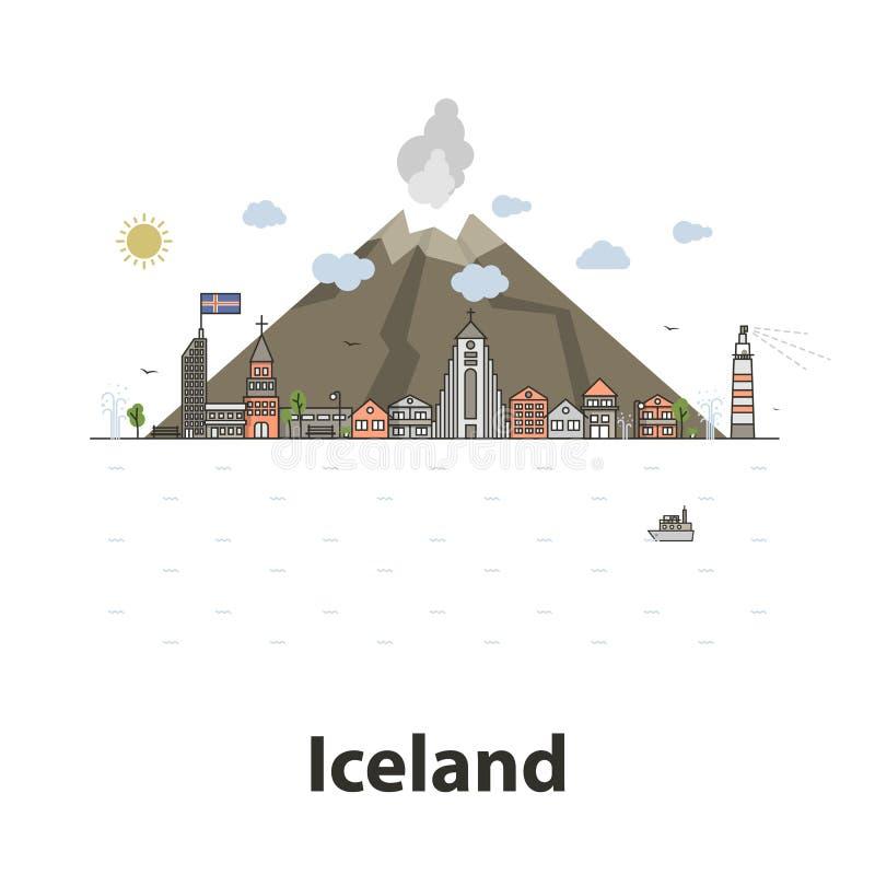 Vector de la isla de Islandia libre illustration