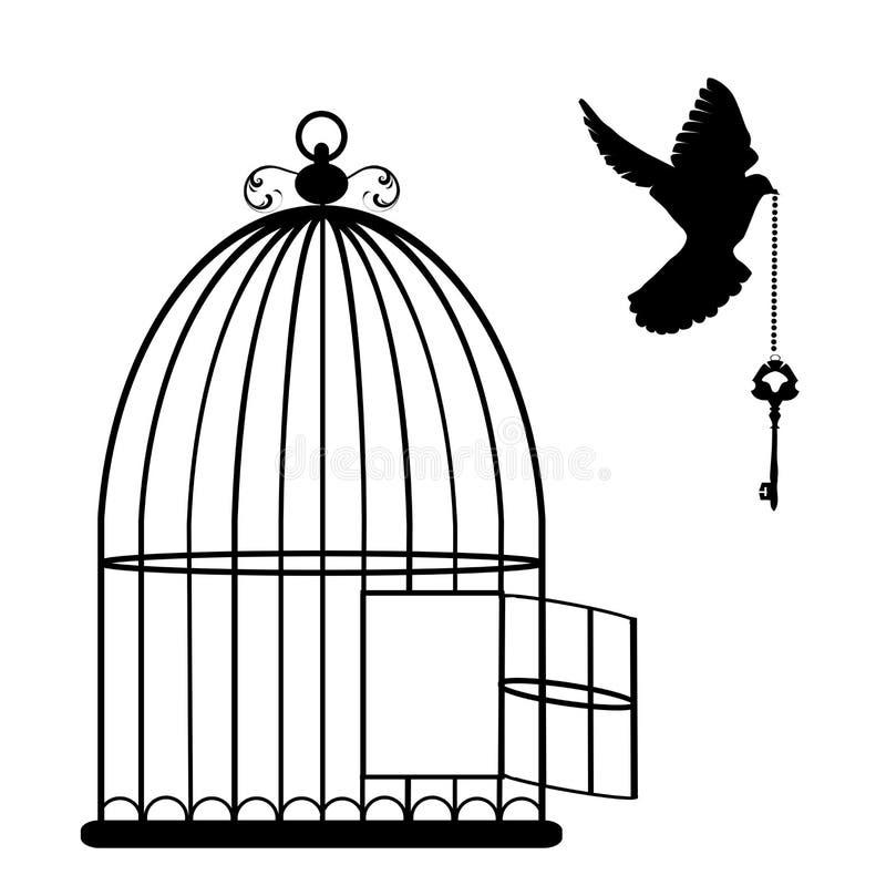 Vector de la jaula de pájaros stock de ilustración