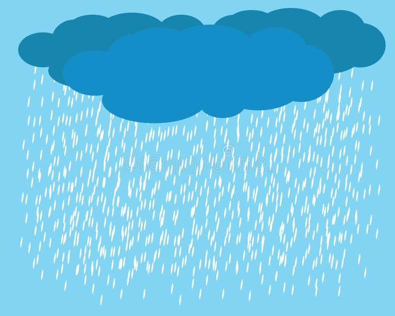 Vector de la lluvia fotografía de archivo