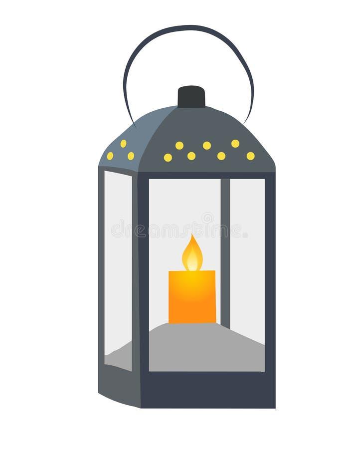 Vector de la luz de la linterna stock de ilustración