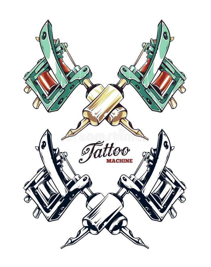 Vector de la máquina del tatuaje stock de ilustración