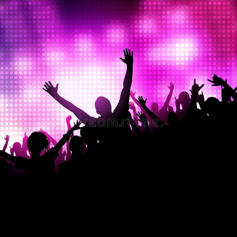 Vector de la música del partido ilustración del vector
