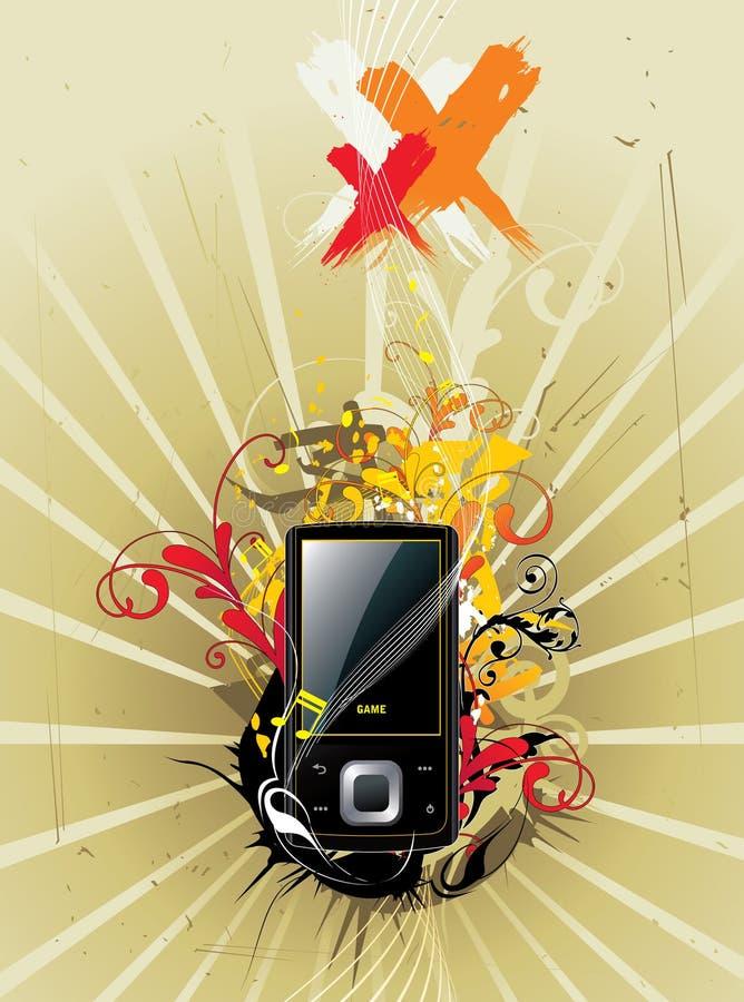 Vector de la música electrónica stock de ilustración