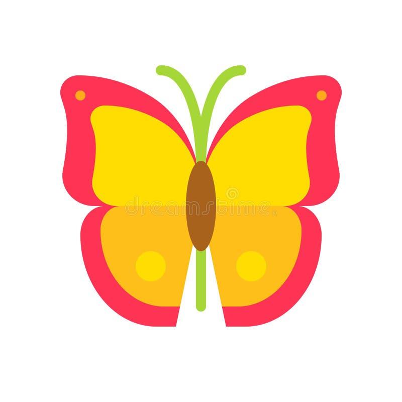 Vector de la mariposa, icono plano relacionado tropical del estilo stock de ilustración