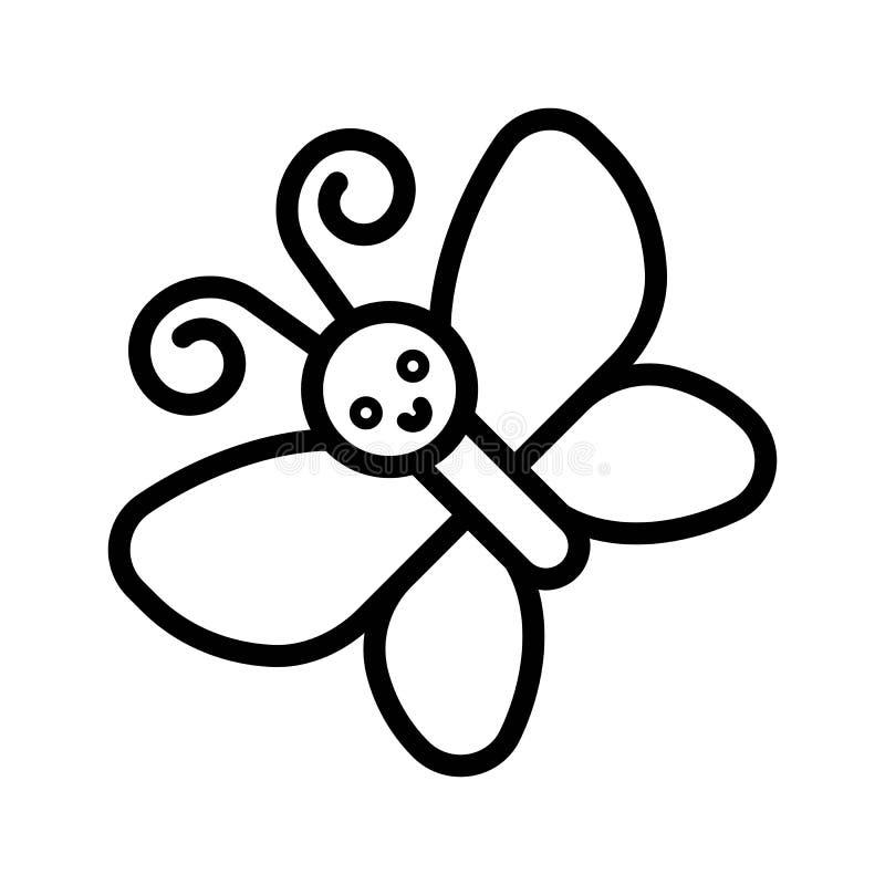 Vector de la mariposa, línea aislada icono de la estación de primavera libre illustration