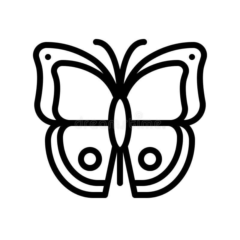 Vector de la mariposa, línea relacionada tropical icono del estilo ilustración del vector