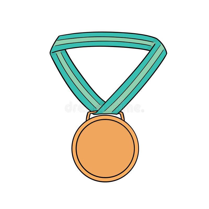 Vector de la medalla ilustración del vector
