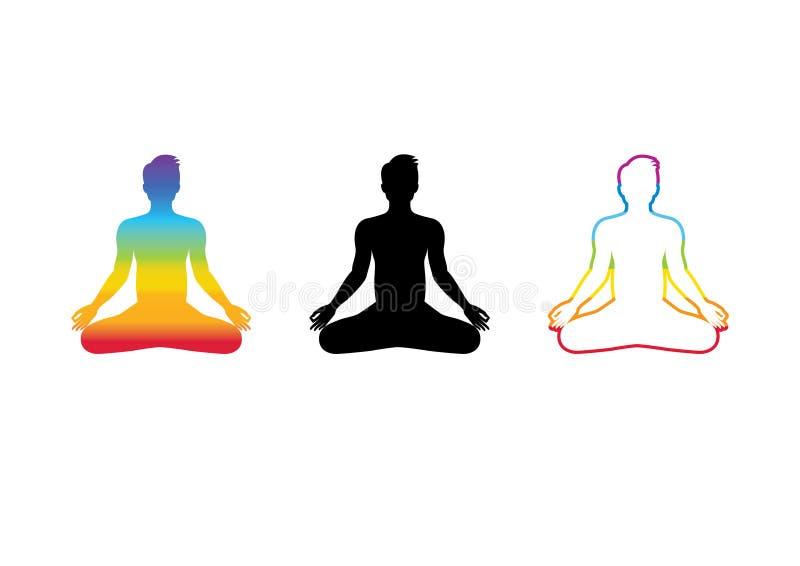 Vector de la meditación de Chakra ilustración del vector