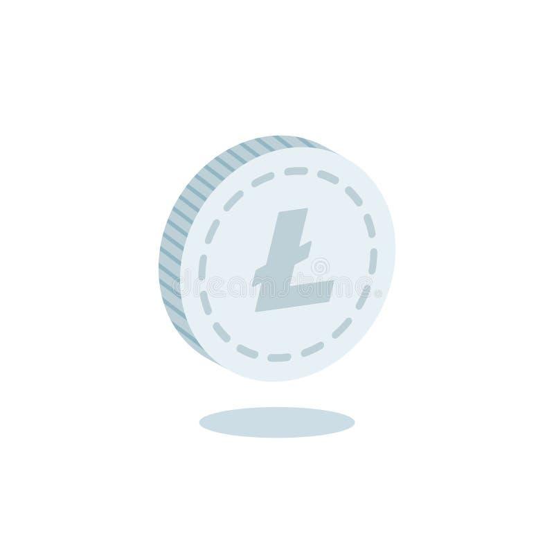 Vector de la moneda de la moneda de Litecoin ilustración del vector