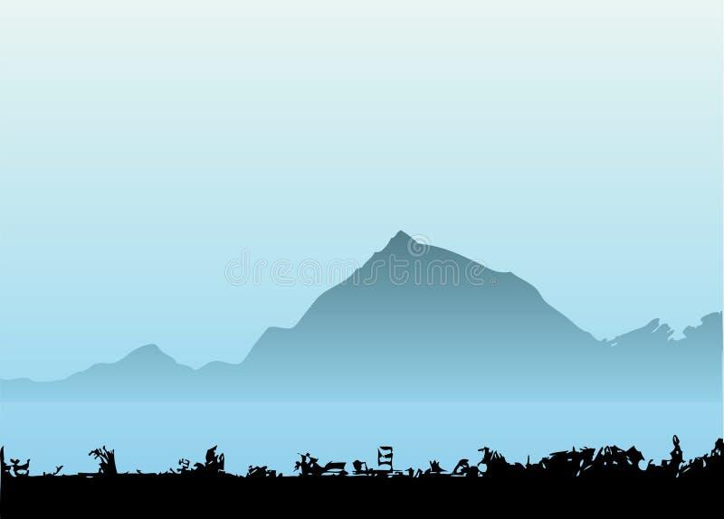 Vector de la montaña ilustración del vector