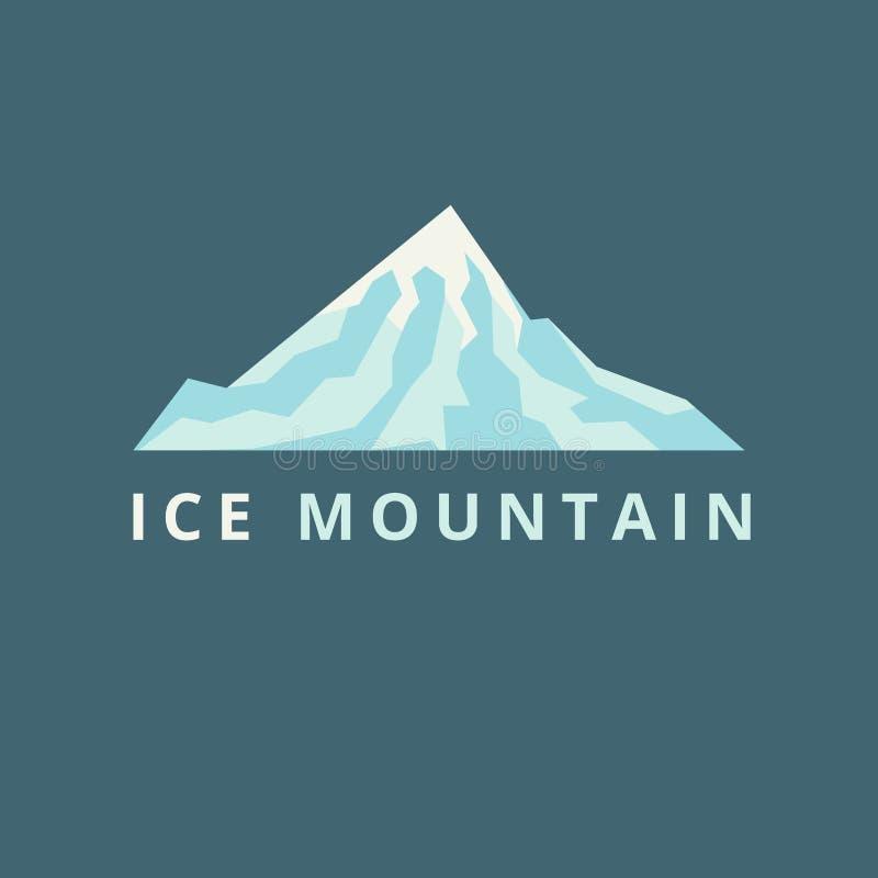 Vector de la montaña del hielo imagen de archivo