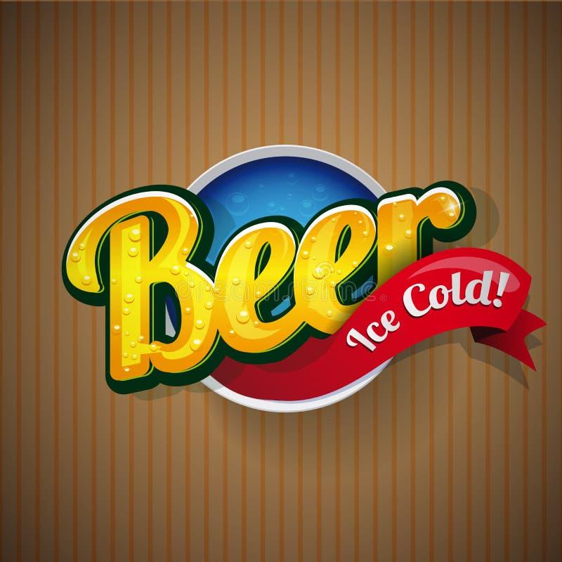 Vector de la muestra del cartel de la cerveza del vintage stock de ilustración