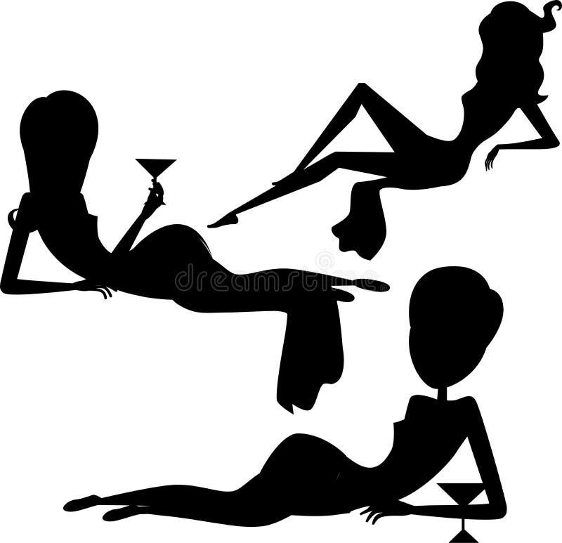 Vector de la mujer de la silueta libre illustration