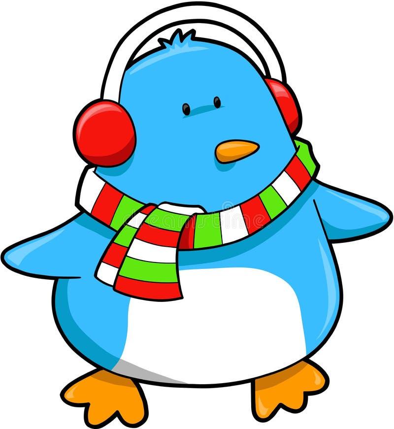 Vector de la Navidad del pingüino libre illustration