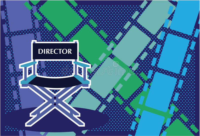Vector de la película de la silla de los directores stock de ilustración