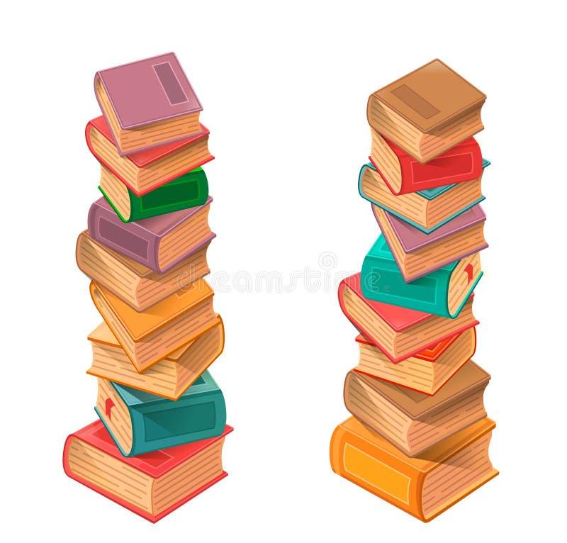 Vector de la pila de libros ilustración del vector