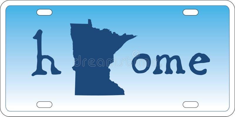 Vector de la placa del estado de Minnesota stock de ilustración