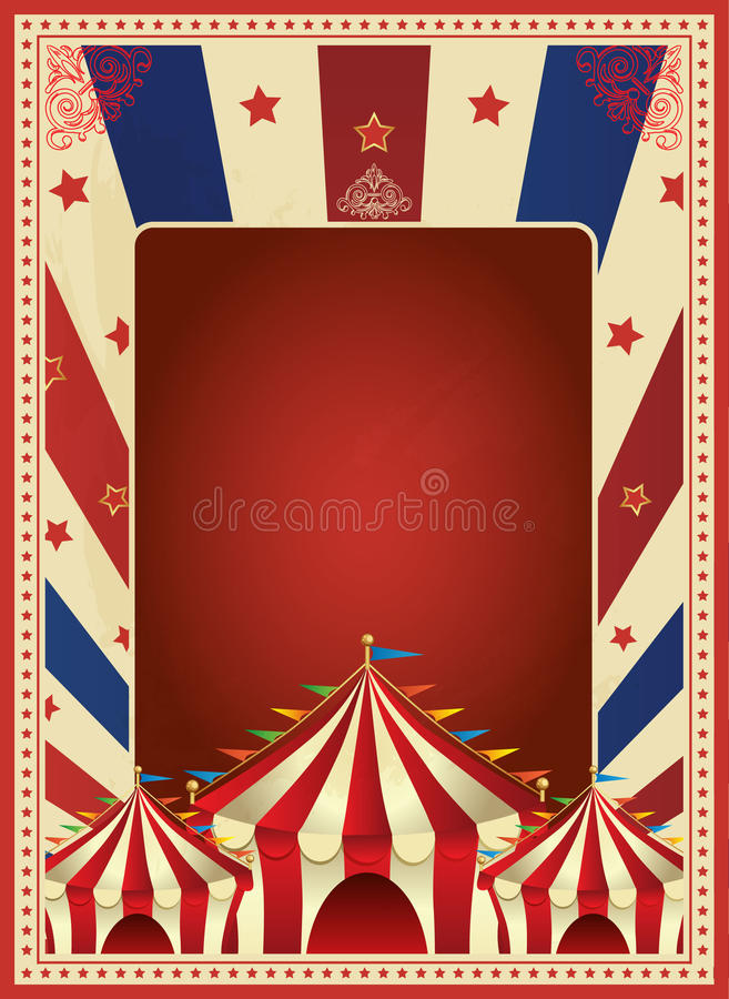 Vector de la plantilla del cartel del carnaval del vintage Mardi Gras circo Ilustración ilustración del vector