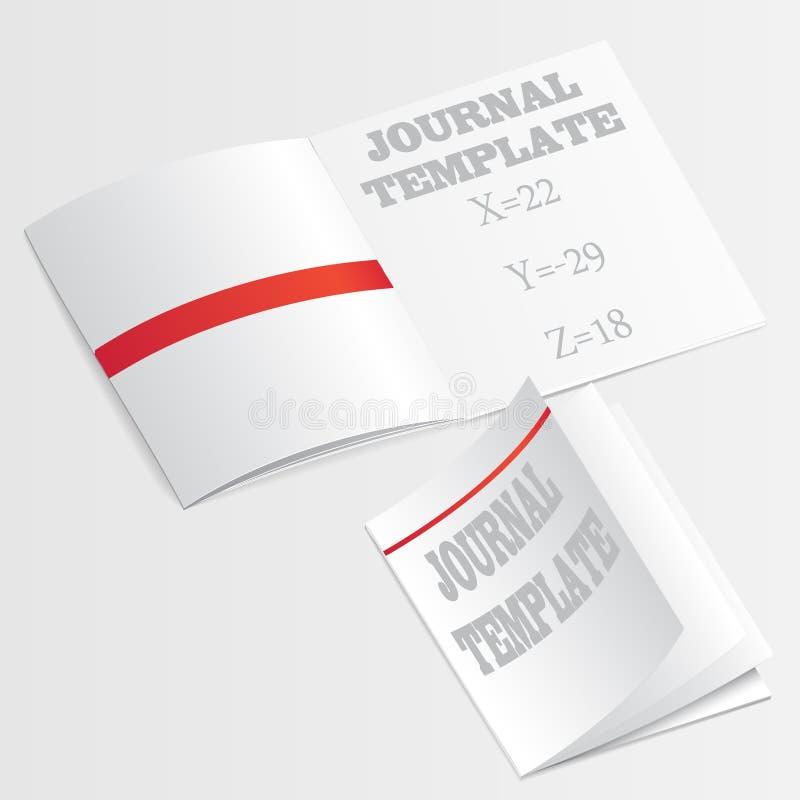 Vector de la plantilla del diario libre illustration