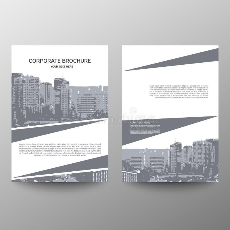 Vector de la plantilla del diseño del aviador del folleto del informe anual, fondo plano del extracto de la presentación de la cu ilustración del vector