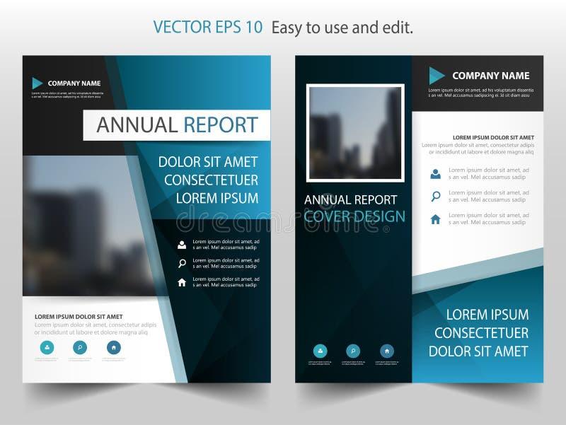 Vector de la plantilla del diseño del folleto del informe anual del extracto del negro azul Cartel infographic de la revista de l ilustración del vector