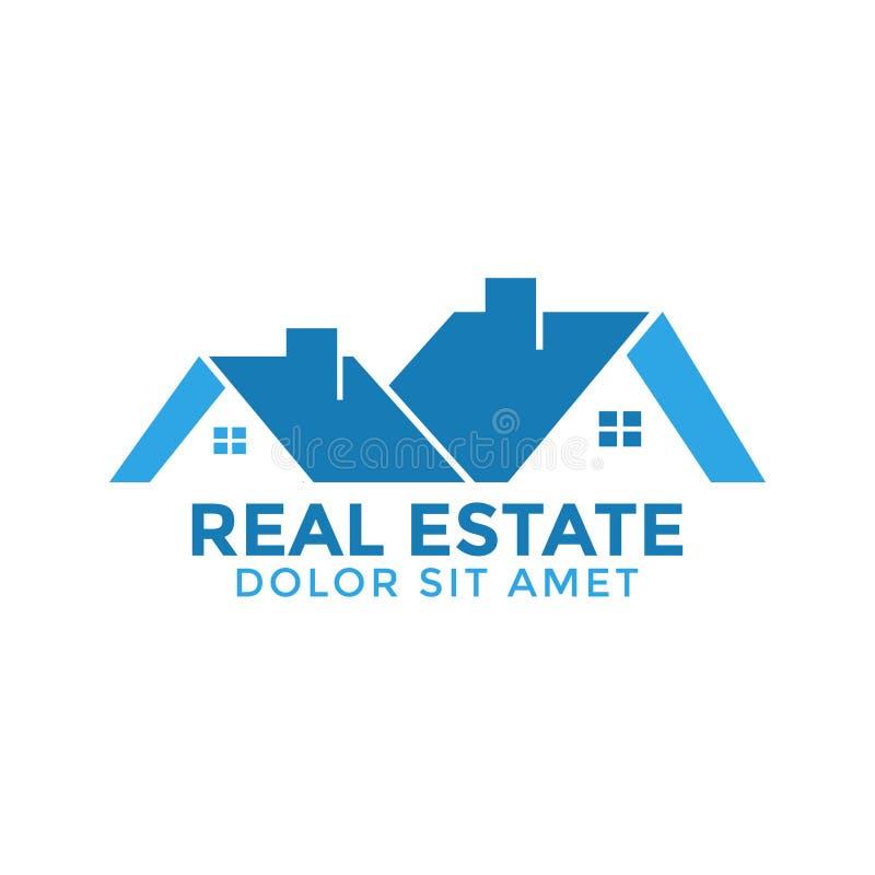 Vector de la plantilla del diseño gráfico de la casa de las propiedades inmobiliarias stock de ilustración