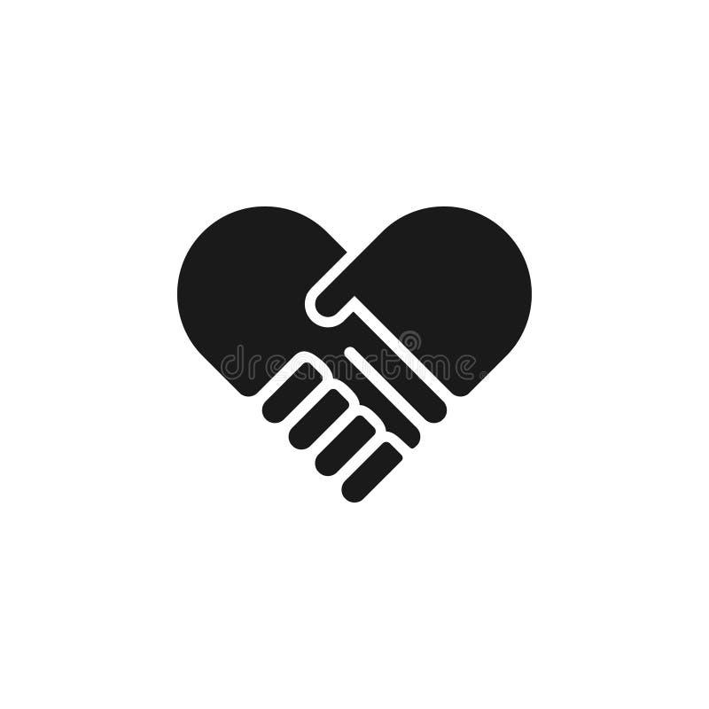 Vector de la plantilla del diseño gráfico del icono del apretón de manos ilustración del vector