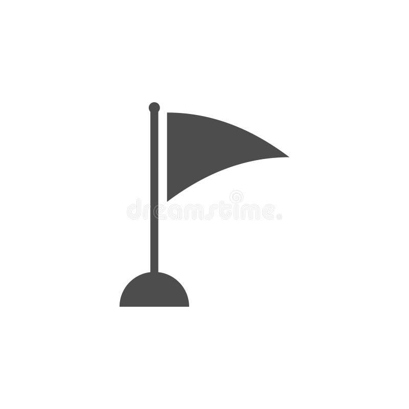 Vector de la plantilla del diseño gráfico del icono de la bandera del golf stock de ilustración