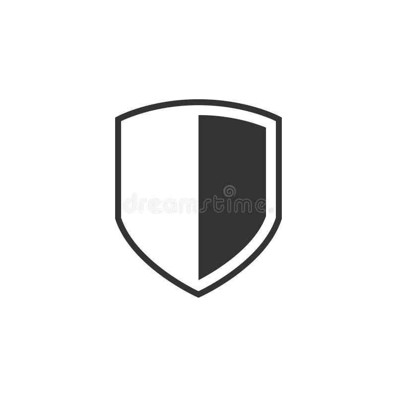 Vector de la plantilla del diseño gráfico del icono del escudo ilustración del vector