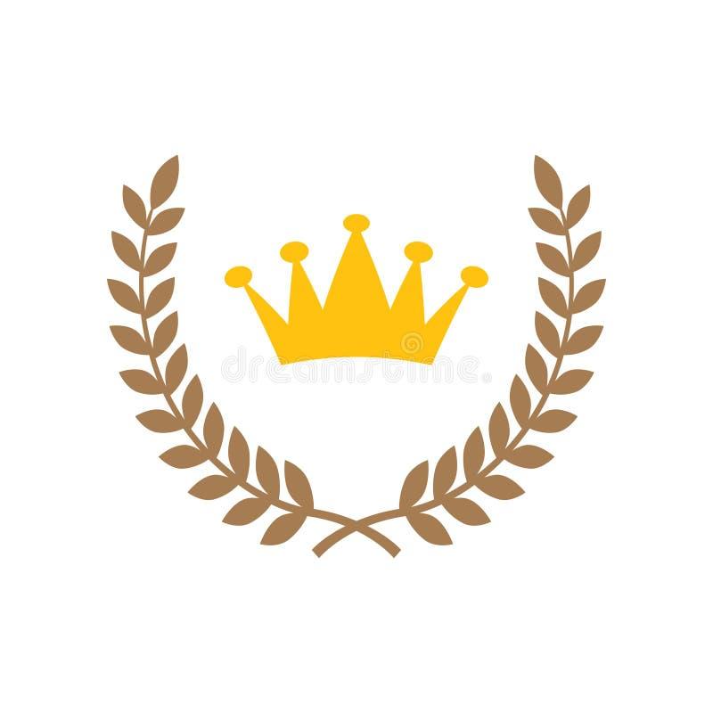 Vector de la plantilla del diseño gráfico del icono de la estrella del ganador ilustración del vector