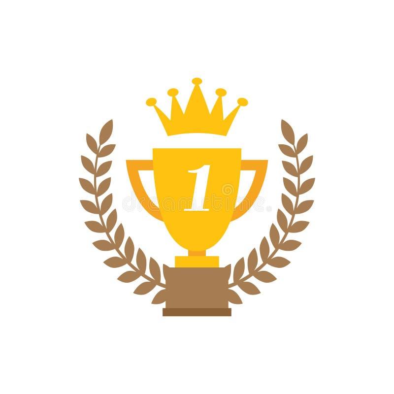 Vector de la plantilla del diseño gráfico del icono de la estrella del ganador stock de ilustración