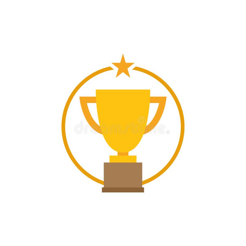 Vector de la plantilla del diseño gráfico del icono de la estrella del trofeo libre illustration