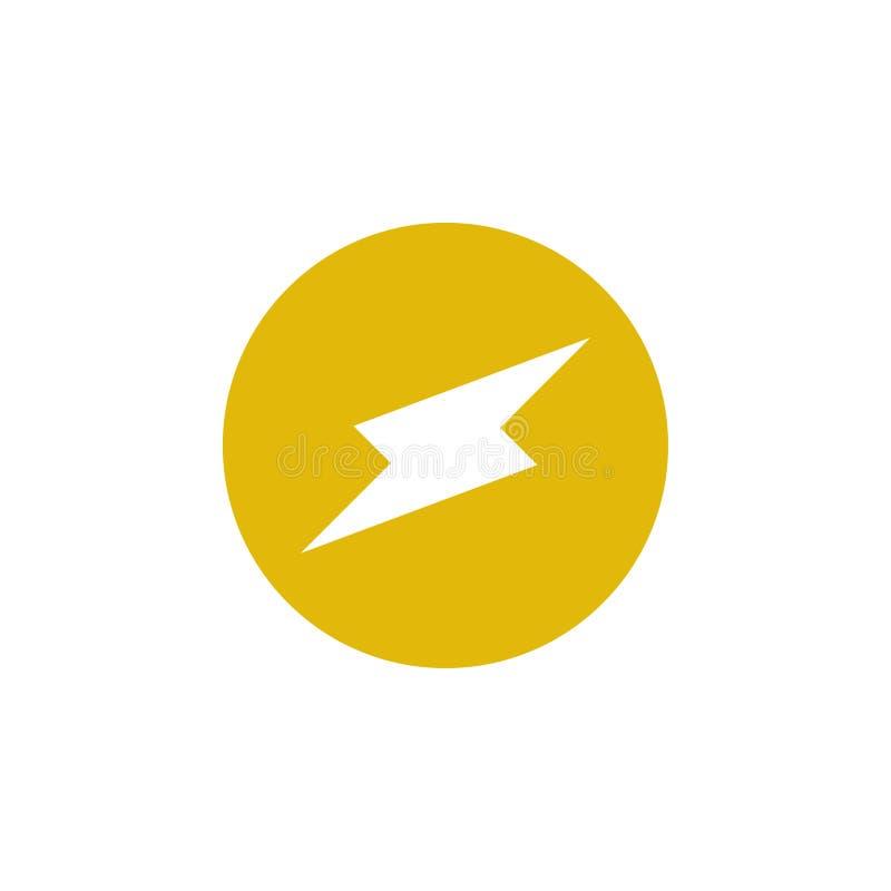 Vector de la plantilla del diseño gráfico del icono del perno stock de ilustración