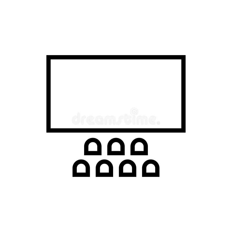 Vector de la plantilla del diseño gráfico de la película del teatro stock de ilustración