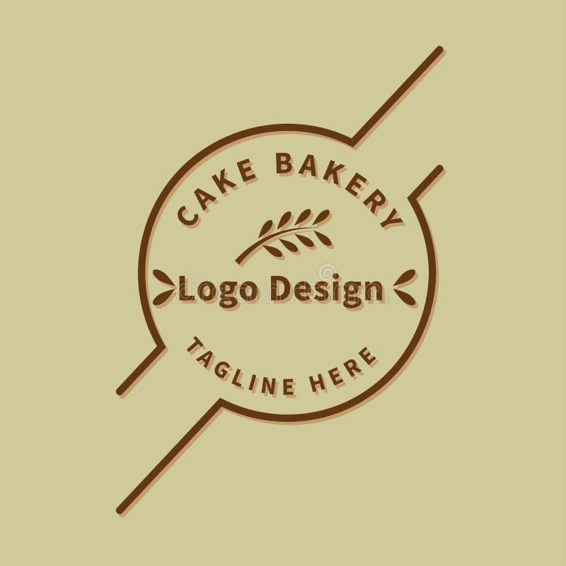 Vector de la plantilla del diseño del logotipo de la panadería conceptual ilustración del vector