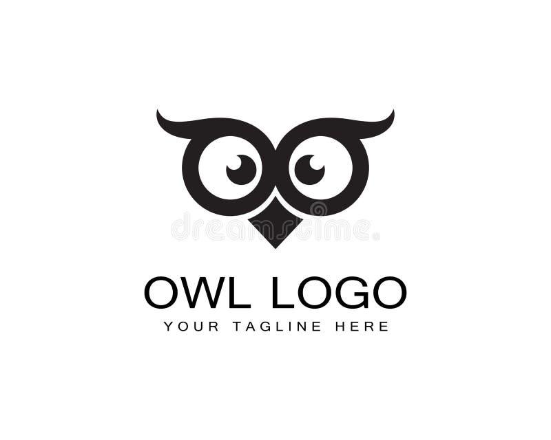 Vector de la plantilla del logotipo del búho libre illustration