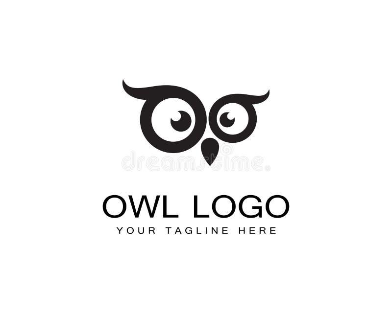 Vector de la plantilla del logotipo del búho stock de ilustración