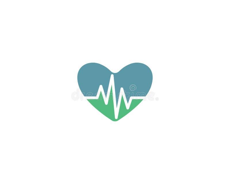 Vector de la plantilla del logotipo del pulso libre illustration
