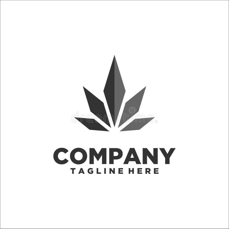 Vector de la plantilla del logotipo de rey Leaf stock de ilustración