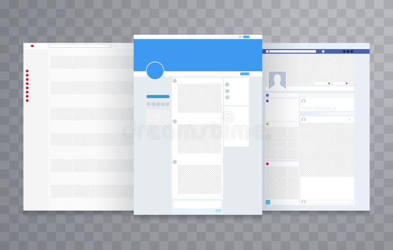 Vector de la plantilla de la disposición del sitio web ilustración del vector