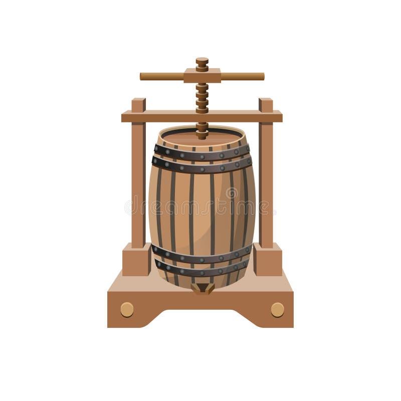 Vector de la prensa de vino ilustración del vector